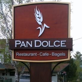 Pan Dolce Restaurant Sign