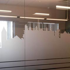 Social Sentinel Window Frosting