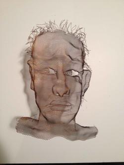 wire mesh sculpture portraits