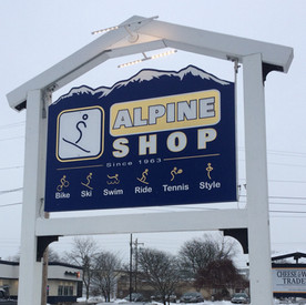 The Alpine Shop Sign