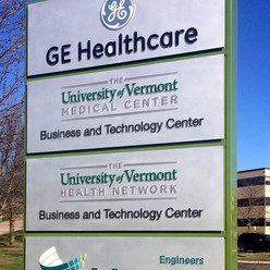 GE Healthcare Monument Sign