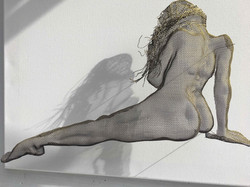 wire mesh art reclining studies