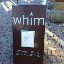 Whim Sandwich board Sign