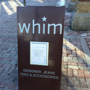 Whim Sandwich board Sign