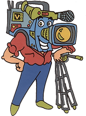 videosyncracies camera head dude cartoon