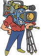videosyncracies camera head cartoon character