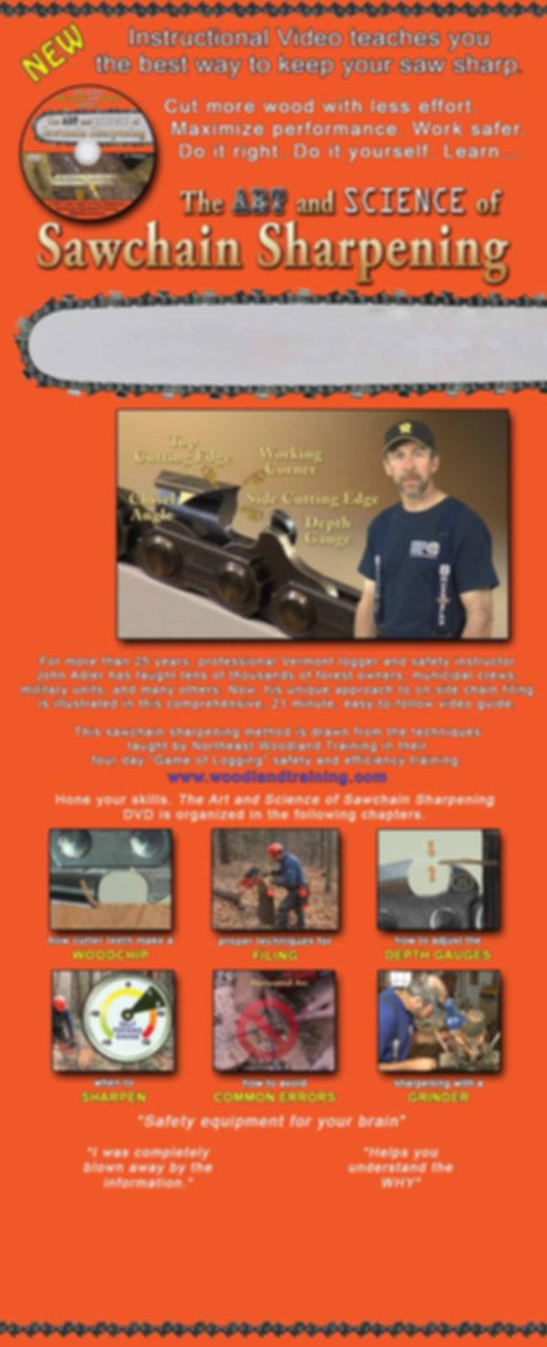 the art and science of sawchain sharpening instructional video, john adler
