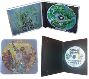 dvds with color label and case choice