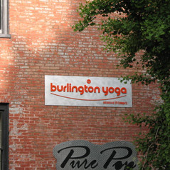 Burlington Yoga Sign
