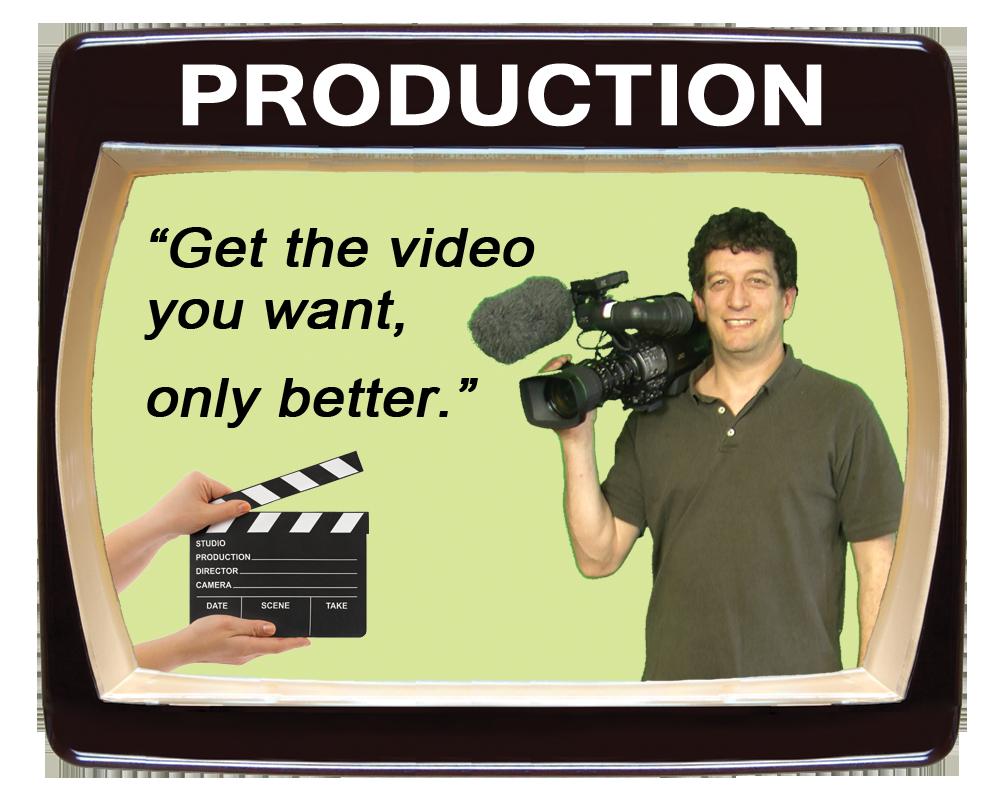 paul gittelsohn videographer holding a video camera, get the video you want only better