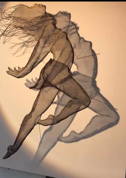 wire mesh art dancer studies