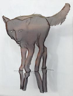 wire mesh sculpture fox