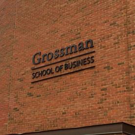 UVM Grossman School of Business Sign
