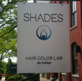 Shades Hair Color Lab Sign