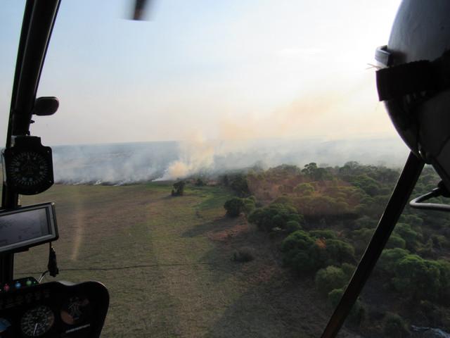 Aerial patrol monitoring fires
