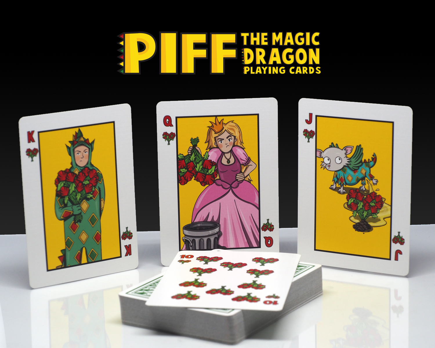 Piff Deck Heart Court Cards