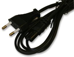 EURO C7 Mains Cable, 2M, Black