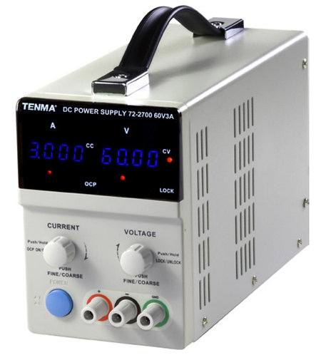 Single Output DC Bench Power Supply - 60V, 3A