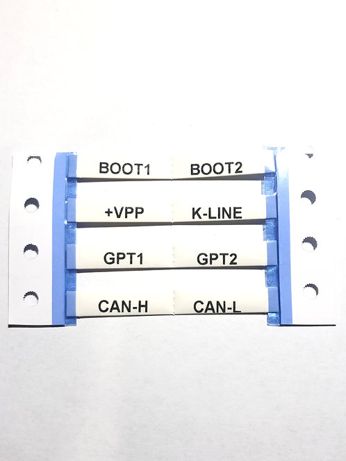 Cable markers, printed shrink tube, marker customization