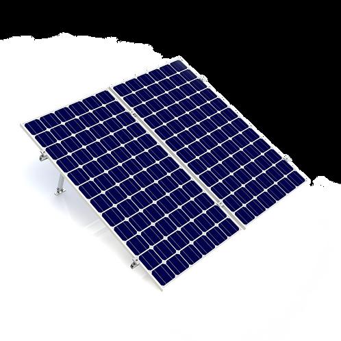 Kit Next Rail para 2 paneles (60/72) 15 a 30°