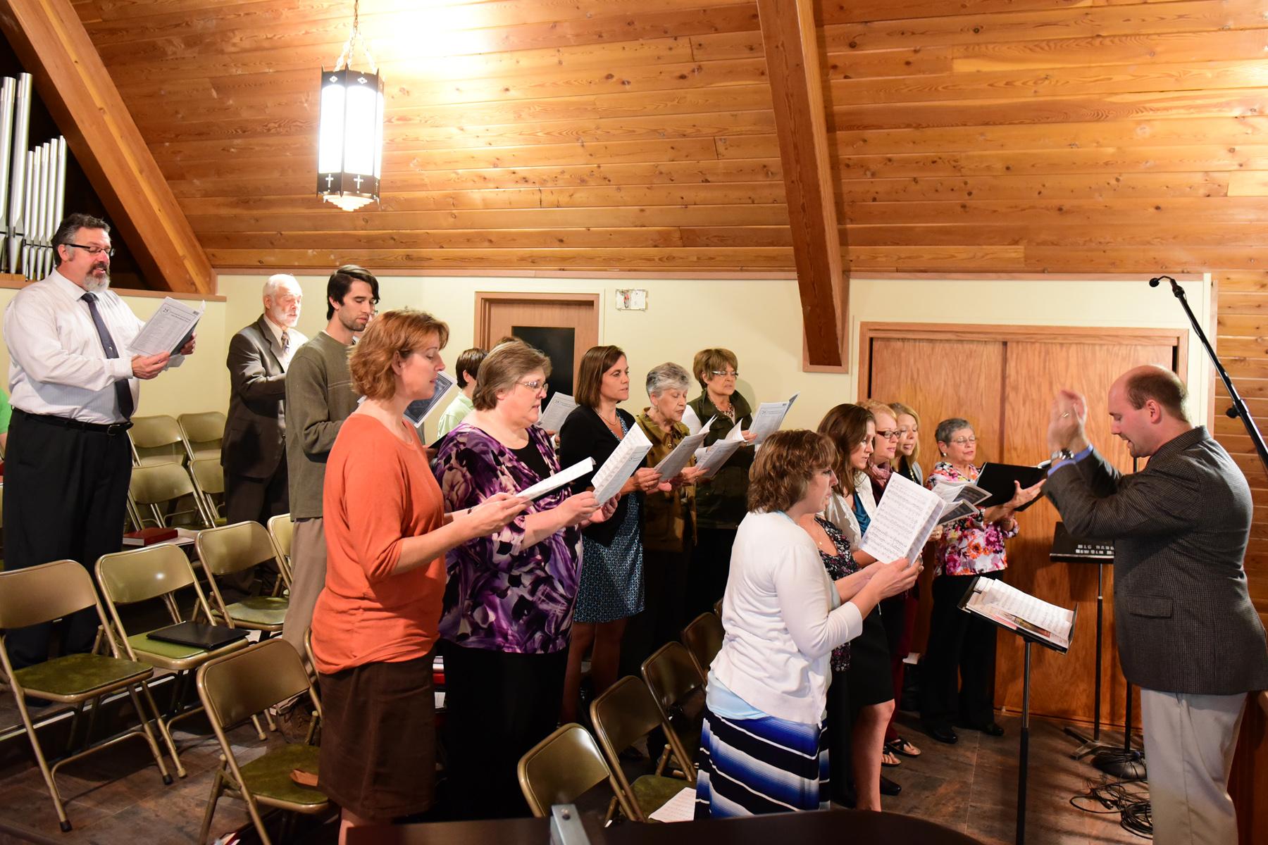 Choir singing 9 25 16