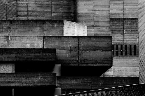 Brutalist Architecture | Minimalism | Black and White Photographs | London Architecture #69