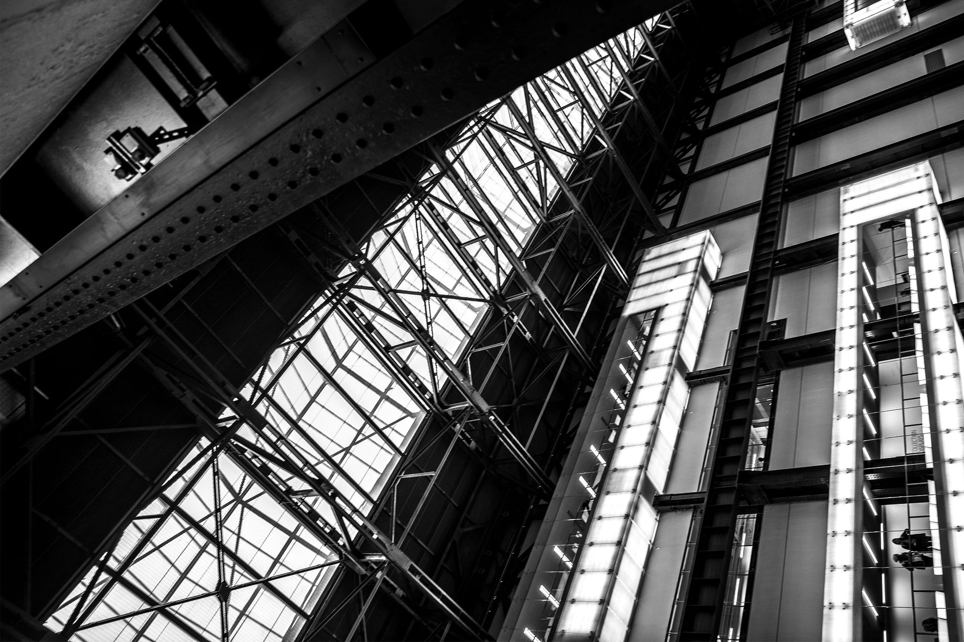 Black and White Photographs, Brutalist Architecture London, Tate Modern
