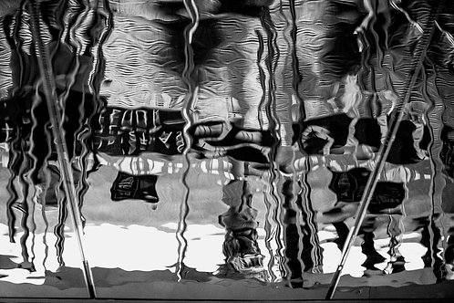 Black and White Photographs | Abstract Art | Mirrors | London Mirrors #03