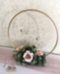 Gold hoop table centrepiece for weddings in Devon and Torbay.3-47C2-8F98-8FE6FB36E8F9.JPG