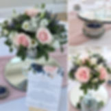 Wedding centrepieces at Rockbeare Manor.