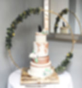 Wedding cake stand at a wedding at the Bickley Mill Inn.