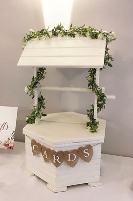 Wishing well post box at a wedding at Rockbeare Manor, Exeter.