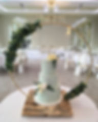 Cake hoop stand at a wedding at Deer Park.
