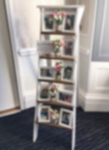 Step ladder available for hire for weddings in Devon and Torbay.