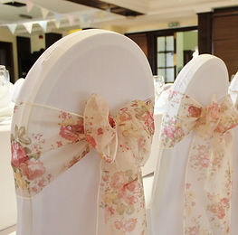 Chair cover hire for weddings in Devon and Torbay.