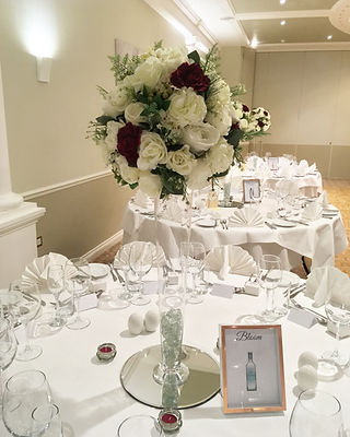 Wedding centrepieces available for hire for weddings in Devon and Torbay.