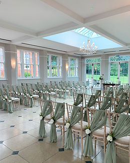 Chiffon chair drape hire for weddings in Devon and Torbay.