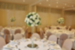 Wedding centrepieces at The Edgemoor Hotel.