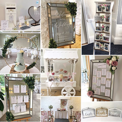 Wedding decor accessory package available to hire for weddings in Devon and Torbay.