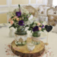 Fresh flower centrepieces available to hire for weddings in Devon & Torbay.
