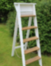 Wooden step ladder available for hire for weddings in Devon and Torbay.