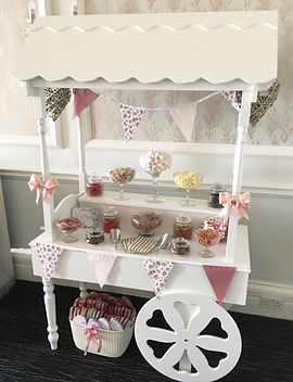 Sweet cart available for hire for weddings in Devon and Tobay.