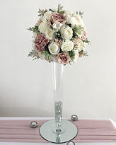 Artificial flower centrepieces available for hire for weddings in Devon and Torbay.