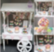 Cupcake cart at the Bickley Mill.