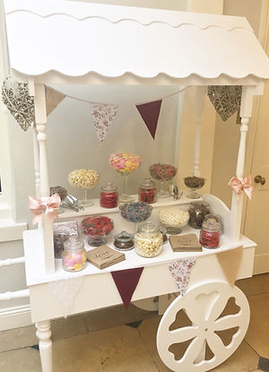 Sweet cart available for hire for weddings in Devon and Torbay.
