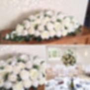Wedding flower arrangement for weddings in Devon.