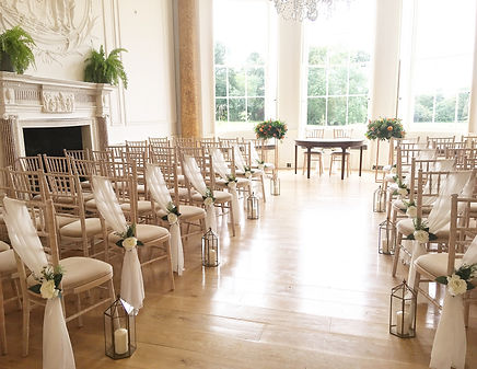 Brass lanterns hired for a wedding at Rockbeare Manor.