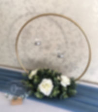 Gold hoop table centrepiece for weddings in Devon and Torbay.E-B638-2F2315D83045.JPG