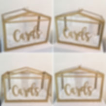 Gold card box available to hire for weddings in Devon and Torbay.