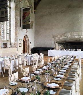Lace chair drapes hired for a wedding at Dartington Hall, Totnes.